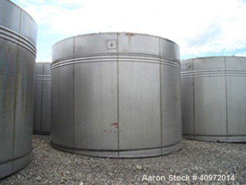 """Used-Approximately 13,000 US Gallon, Type 304 Stainless Steel, Storage Tank Manufactured by Ellet. Vertical design, 14'6"""" di..."""