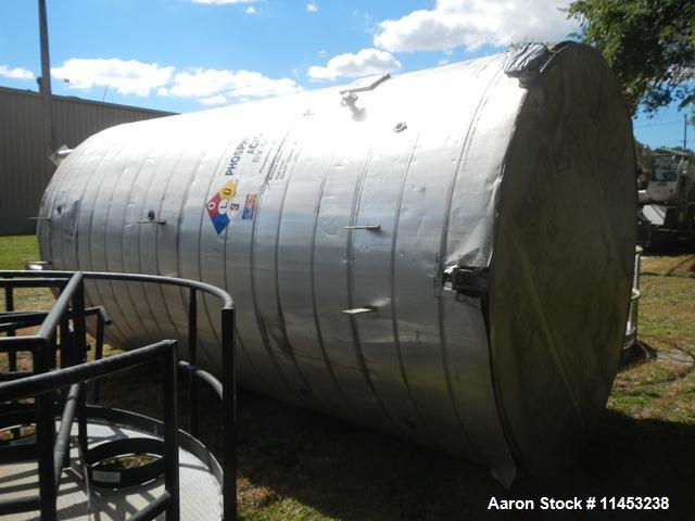 Used- 8,000 Gallon Stainless Steel  Enerfab Storage Tank