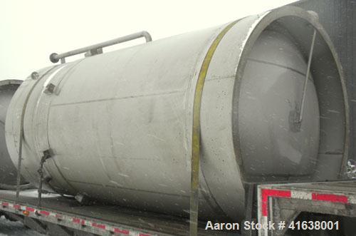 Used- Enerfab Double Wall Pressure Tank, 5,000 gallon, 304L stainless steel, vertical. Inner shell 99'' diameter x 131-5/8''...