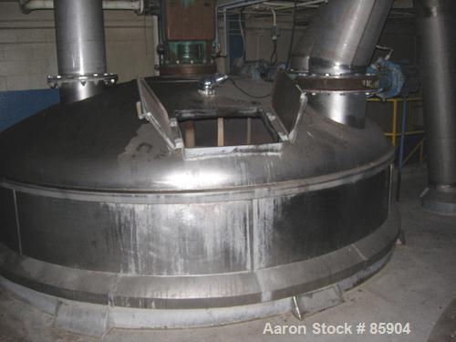"""Used- Bishopric Products Co (Enerfab Inc) 9000 Gallon Dimple Jacketed Mix Tank, 304 stainless steel. 12' diameter x 9'6"""" str..."""