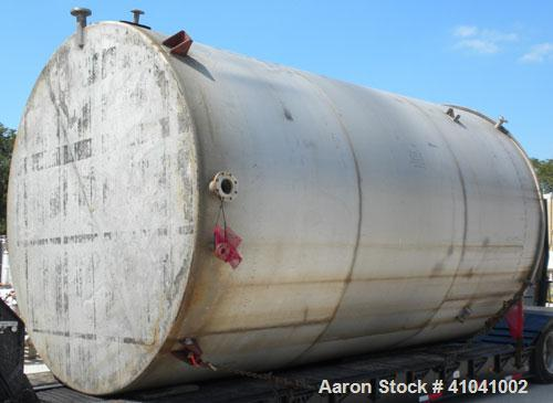 "Used- Evans & Sons Process Tank Company Tank, 12,000 Gallon, 316 Stainless Steel, Vertical. 132"" diameter x 216"" straight si..."