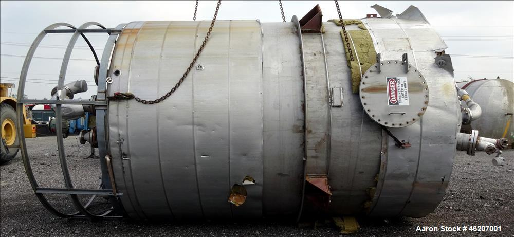 Used- Tank, Evans & Sons Process Tank Co.  10,000 Gallon, 316 Stainless Steel