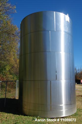 "Used- Used- 17,000 Gallon (approximately) Feldmeier Stainless Steel Tank. Slant bottom, cone top. 12' 6"" diameter x 22' high."