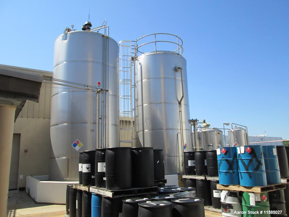Used- 20,000 Gallon Feldmeier Vertical Stainless Steel Storage Tank