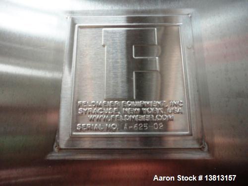 Used- Feldmeier Tank, 6,000 Gallon, Stainless Single, Vertical.