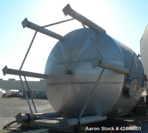 "Used- Feldmeier Equipment Tank, 6000 gallon, 304L stainless steel, vertical. 144"" Diameter x 87"" straight side, flat top, di..."
