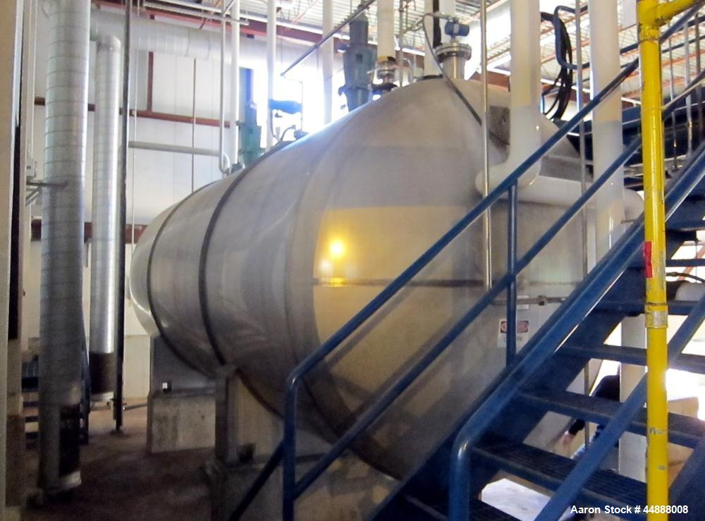 Used- 10,000 Gallon Stainless Steel Feldmeier Reactor, Model XLC-150D