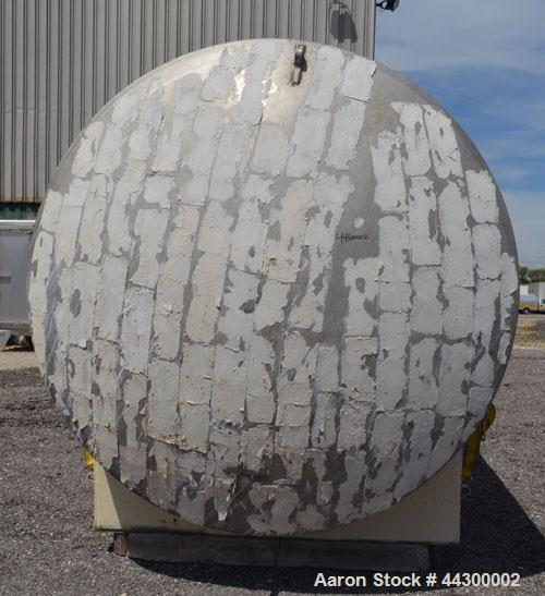 """Used- Hamilton Welding Company Tank, 11,000 Gallon, 304 Stainless Steel, Horizontal. Approximate 96"""" Diameter x 330"""" straigh..."""