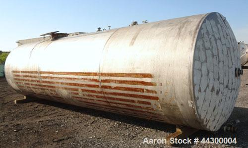 Used- 11,000 Gallon Stainless Steel Hamilton Welding Company Tank