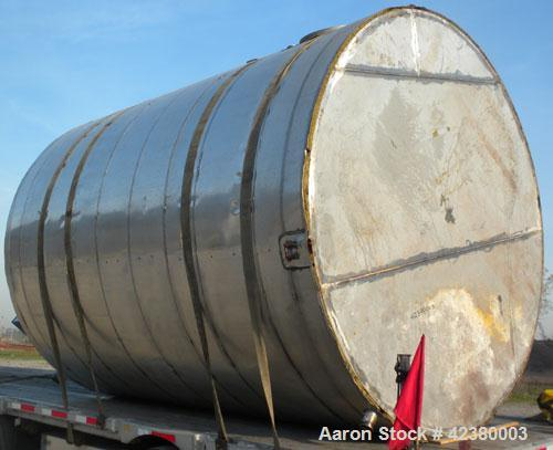 """Used- Henders Boiler and Tank Company Tank, approximately 5700 gallons, 304 stainless steel, vertical. Approximately 108"""" di..."""