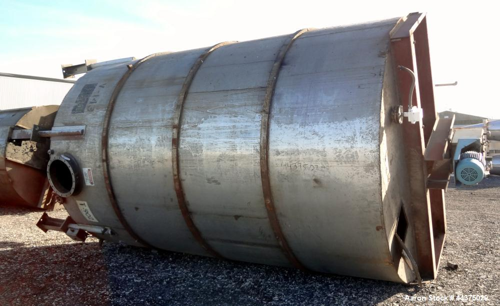 "Used- Imperial Steel Tank, 10,300 Gallon, 304 Stainless Steel, Vertical. Approximate 126"" diameter x 192"" straight side, fla..."