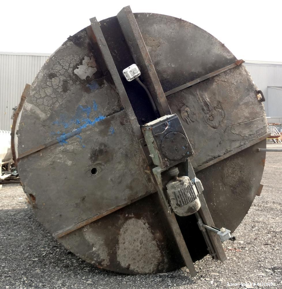 "Used- Imperial Steel Tank, 10,000 Gallon, 304 Stainless Steel, Vertical. Approximate 120"" diameter x 204"" straight side, fla..."