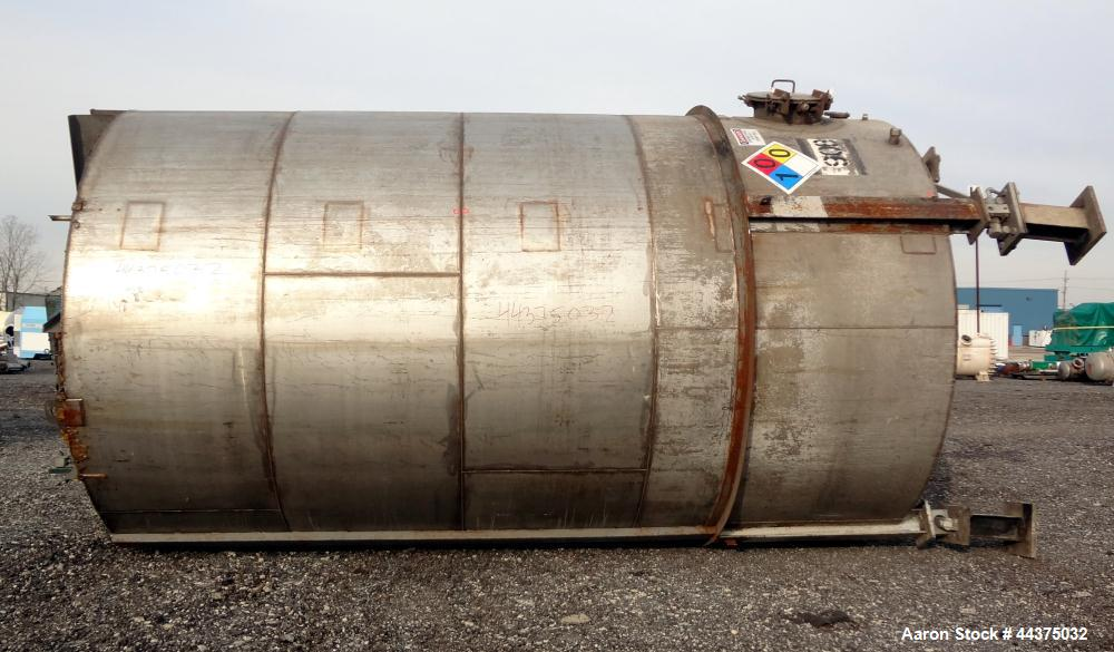 """Used- Imperial Steel Tank, 10,000 Gallon, 304 Stainless Steel, Vertical. Approximate 120"""" diameter x 204"""" straight side, fla..."""