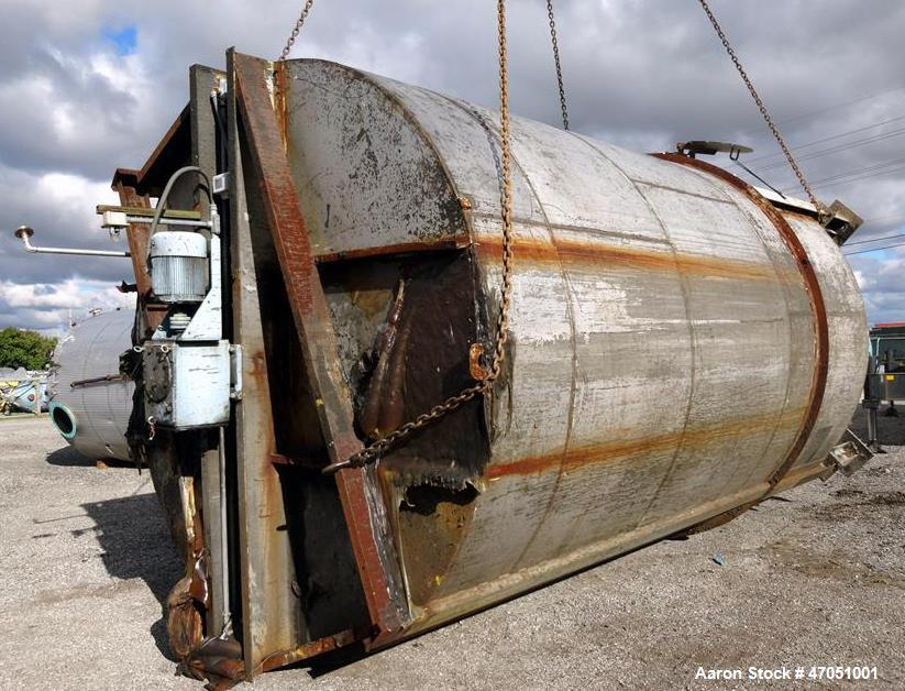 Used- Imperial Steel Tank Company Tank, 12,000 Gallon, 304 Stainless Steel, Vert