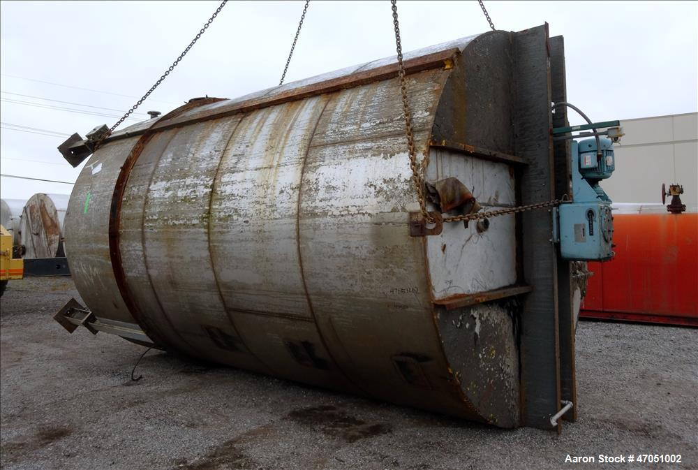"Used- Imperial Steel Tank Company Tank, 12,000 Gallon, 304 Stainless Steel, Vertical. Approximate 132"" diameter x 204"" strai..."