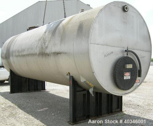 Used- Industrial Air Tank, 10,000 Gallon, 304 Stainless Steel, Horizontal, Insulated. Approximately 8' diameter x 28' long, ...