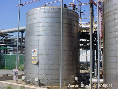 Used-Industrial Alloy 13,429 Gallon, 316L Stainless Steel, Storage Tank. API 650. 12' diameter x 15' long. Internal atmosphe...