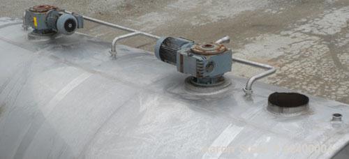 "Used- Inox-Tech Tank, 6000 Gallon, Model ASHS6000USG, 304 Stainless Steel, Horizontal. 97-1/2"" Diameter x 180"" straight side..."