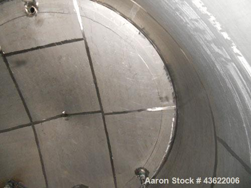 Used- Krenz Approximately 10,000 Gallon Stainless Steel Storage Tank. Approximately 12' diameter x 12' straight side. Flat b...