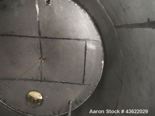 Used- Saracco Tank & Mfg Approximately 8,500 Gallon Stainless Steel Storage Tank. Approximately 11' diameter x 12' straight ...