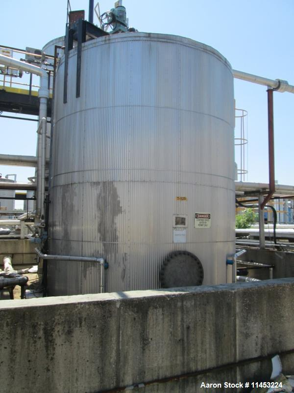 Used- 12,500 Gallon Stainless Steel Lake Nordic Mine Co. Agitated Tank
