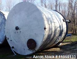 "Approximately 13,000 Gallon Stainless Steel storage tank. 12'6"" diameter x 13' T/T. Unit has (1) tur..."