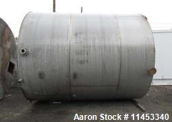 "10,000 Gallon Stainless Steel Tank. Approximate 137"" diameter x 161"" straight side, flat top and bo..."