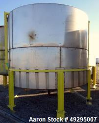 Used- Mix Tank, Approximate 5,000 Gallon, Stainless Steel, Vertical.