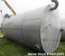 Used-Tank, 15,500 Gallon, Stainless steel,  11.5' dia x  20' high, with Side Entering  Prochem model 33MDSL-60S side bottom ...