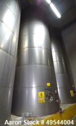 "Used-Tank,  Approximately 20,000 Gallons, 73,897 Liters Capacity.  304 Stainless Steel.  3.3 Meters (10' 8"") Diameter x 8.78..."