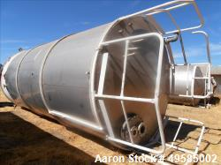 Used-Tank, 12,000 Gallon, 304 Stainless steel.  10' diameter  X 22' 8'' High.  Single Wall, Cone Bottom With Skirt Bottom. N...