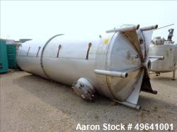 Used-Amer-Industrial Tank, 6,000 Gallon, 316 Stainless steel, Vertical. 7' diameter x 27' long.  Dished Heads.
