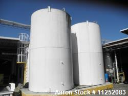 Used- Cherry Burrell 13,000 Gallon Stainless Steel Jacketed Silo. 12' diameter X 16' straight side. Includes side-entering a...