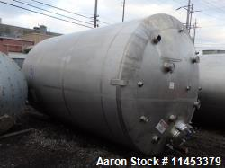 "Used- 5000 Gallon DCI Tank. 316L stainless steel construction. Approximately 102"" diameter x 132"" straight side, dish top an..."