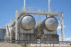 65,000 Gallon Horizontal Carbon Steel Pressure Vessel (bullet tank). Built by Eaton Metal Products....