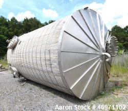 "Used- JMW James Machine Works API 650 Tank, 9,400 Gallon, 316L Stainless Steel, Vertical. 120"" Diameter x 192"" straight side..."