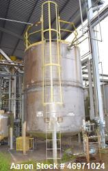 "Southwest Tank & Treater Tank, 5000 Gallon, Stainless Steel, Vertical. Approximate 108"" Diameter x ..."