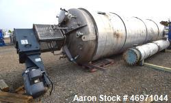 "Steel-Pro Pressure Tank, Approximate 6300 Gallons, 304L Stainless Steel, Vertical. Approximate 76"" ..."
