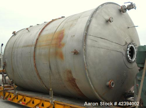 """Used- Modern Welding Company Tank, 9000 gallon, 304 stainless steel, vertical. Approximate 120"""" diameter x 184"""" straight sid..."""