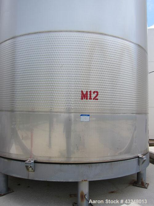 """Used- Mueller Tank, 11,933 Gallon, Model DF, Stainless Steel, Vertical. Approximate 140"""" diameter x 173"""" straight side. Off ..."""