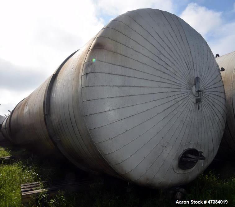 """Used- Mueller Tank, 45,000 Gallon, Model F, 304L Stainless Steel, Horizontal. Approximate 148-1/2"""" diameter x 564"""" straight ..."""