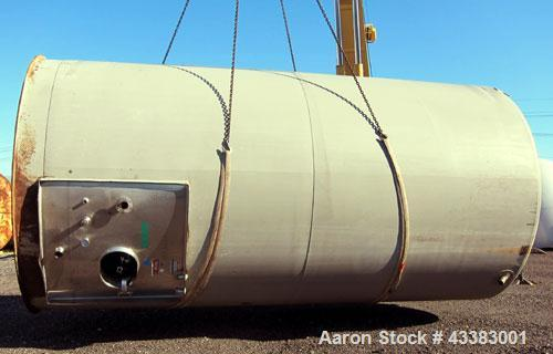 """Used- Mueller Silo Storage Tank, 10,000 Gallon, Model SVW, 304 Stainless Steel. 120"""" Diameter x approximate 220"""" straight si..."""