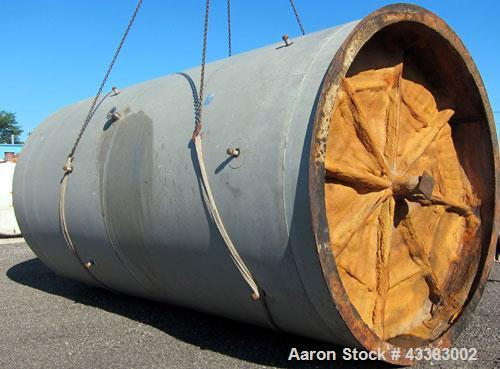 "Used- Mueller Silo Storage Tank, 10,000 Gallon, Model SVW, Stainless Steel. 120"" Diameter x approximate 220"" straight side, ..."