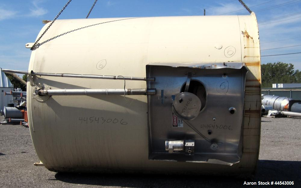 Used- 5,000 Gallon Stainless Steel Mueller Storage Tank, Model SVW