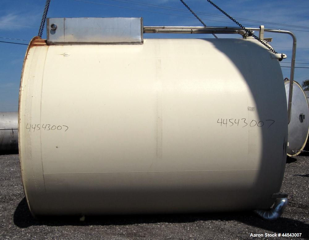 Used- 5,000 Gallon Stainless Steel Mueller Storage Tank, Model SVW