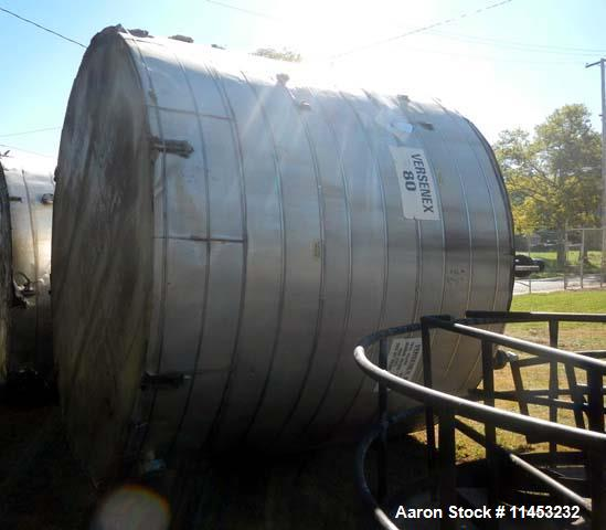 Used- 8,000 Gallon Stainless Steel  Mueller Storage Tank