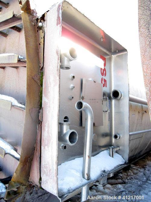 "Used- Mueller Tank Silo, 70,000 Gallon, Stainless Steel. 12'7"" Diameter x 70' OAL. 150 psi jacket."