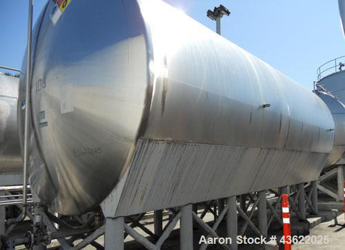 """Used- Mueller 16,000 Gallon Stainless Steel Horizontal Storage Tank. Approximately 10'6"""" diameter x 24'6"""" straight side. Dis..."""