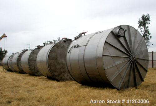 "Used- Winery Tank, 14,233 Gallon, 316 Stainless Steel. Vertical. Approximately 156"" diameter x 180"" straight side, coned top..."