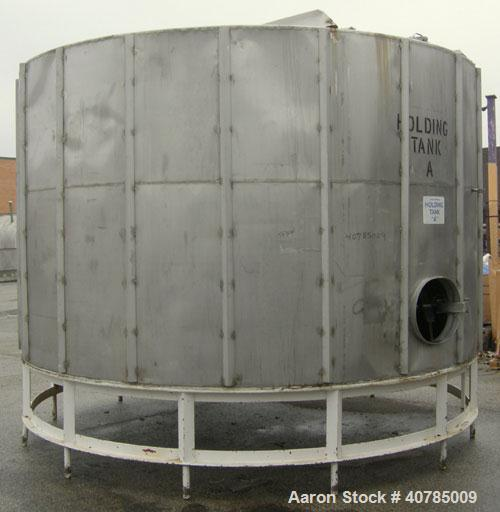 """Used- Tank, 6,000 Gallon, 304 Stainless Steel, Vertical. 144"""" diameter x 84"""" straight side. Flat top, slight coned bottom. T..."""